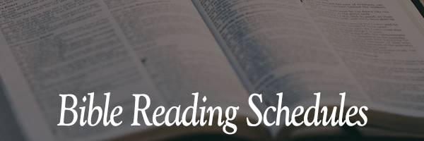bible reading schedules